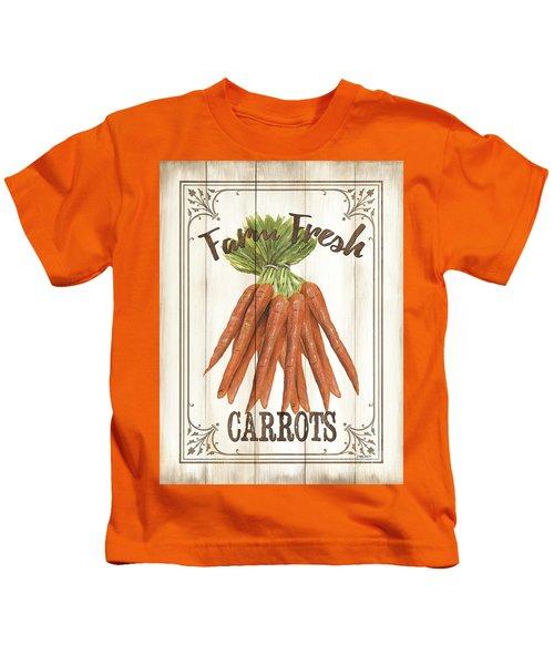 Vintage Fresh Vegetables 3 Kids T-Shirt
