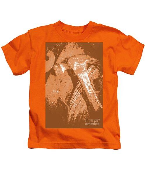 Vintage Miners Hammer Artwork Kids T-Shirt