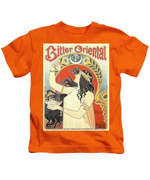 Vintage Poster - Bitter Oriental Kids T-Shirt