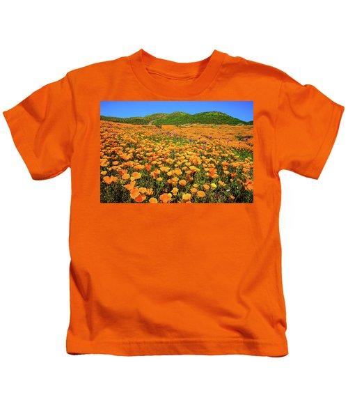 Walker Canyon Wildflowers Kids T-Shirt