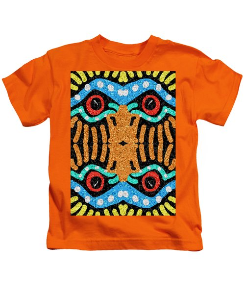 War Eagle Totem Mosaic Kids T-Shirt