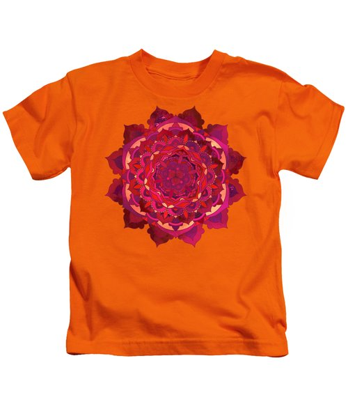 Warm Autumn Mandala Kids T-Shirt