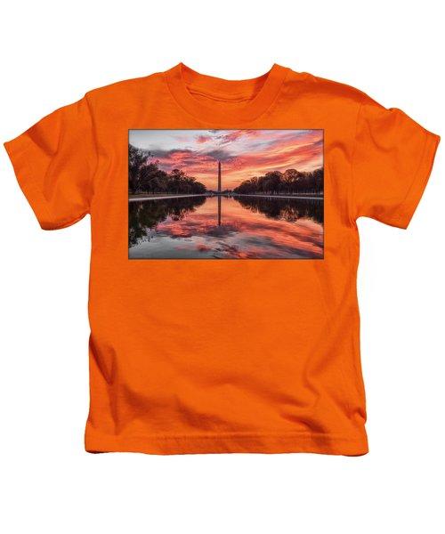 Washington Monument Sunrise Kids T-Shirt