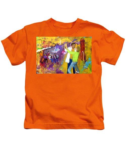 We Tangoed On The Piazza Navono Kids T-Shirt