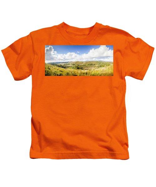 Western Tasmania Panorama Kids T-Shirt