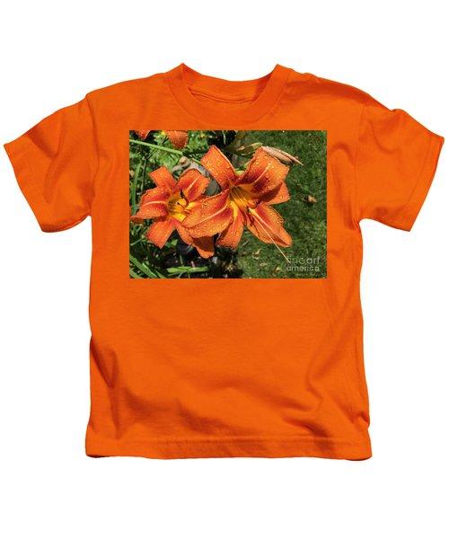 Wet Tiger Llilies Kids T-Shirt
