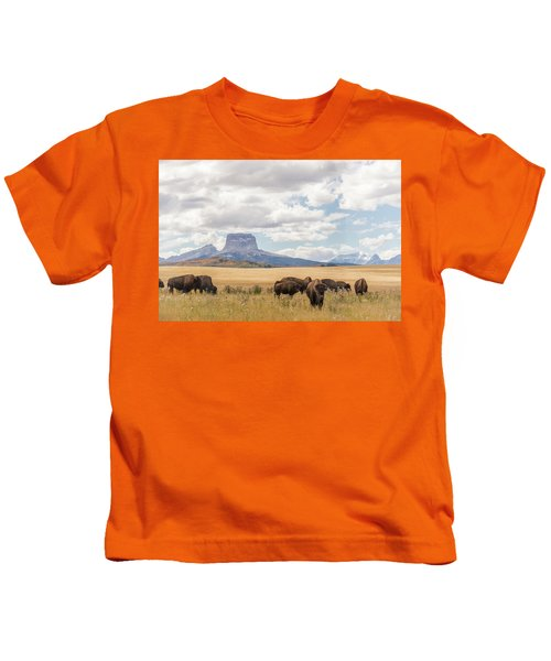Where The Buffalo Roam Kids T-Shirt