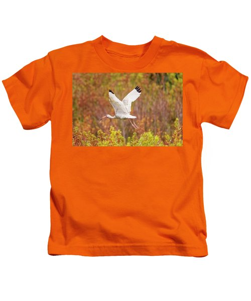 White Ibis In Hilton Head Island Kids T-Shirt