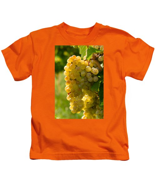 White Wine Grapes Kids T-Shirt