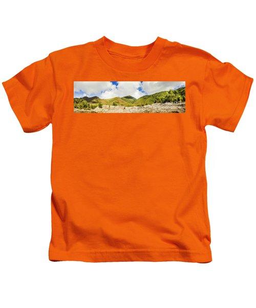 Wide West Coast Of Tasmania Kids T-Shirt