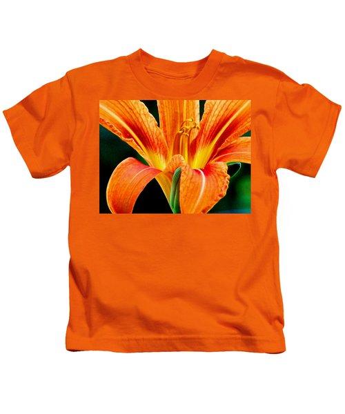Wild Tiger Lily Kids T-Shirt