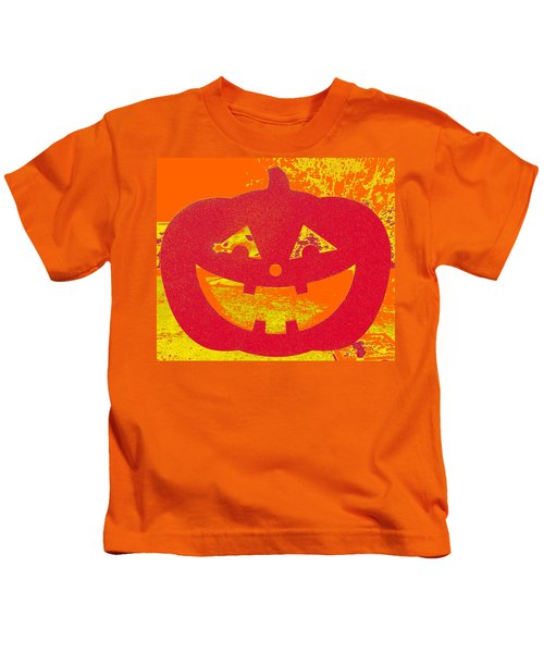 Window Pumpkin #4 Kids T-Shirt