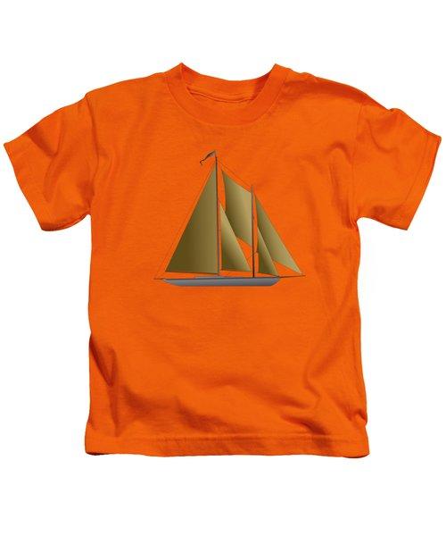 Yacht In Sunlight Kids T-Shirt