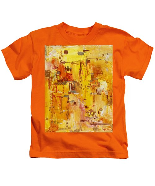 Yellow Conundrum Kids T-Shirt