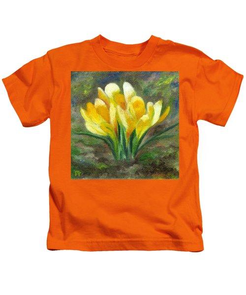 Yellow Crocus Kids T-Shirt