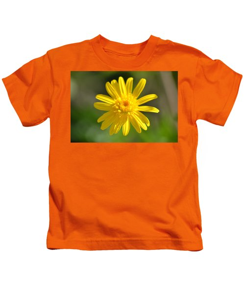 Yellow Fireworks Kids T-Shirt