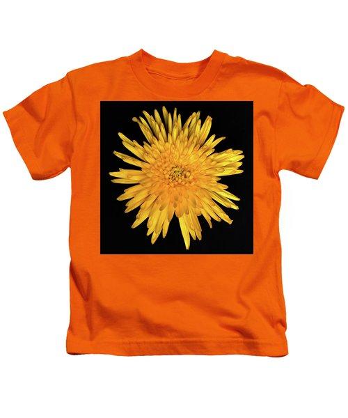 Yellow Flower Macro Kids T-Shirt