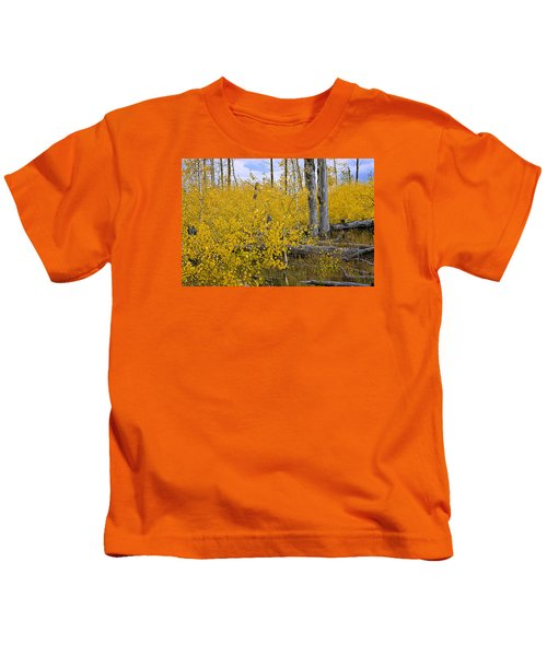 Yellow In Grand Teton Kids T-Shirt