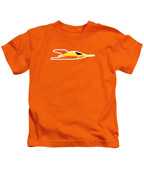Yellow Space Rocket Kids T-Shirt