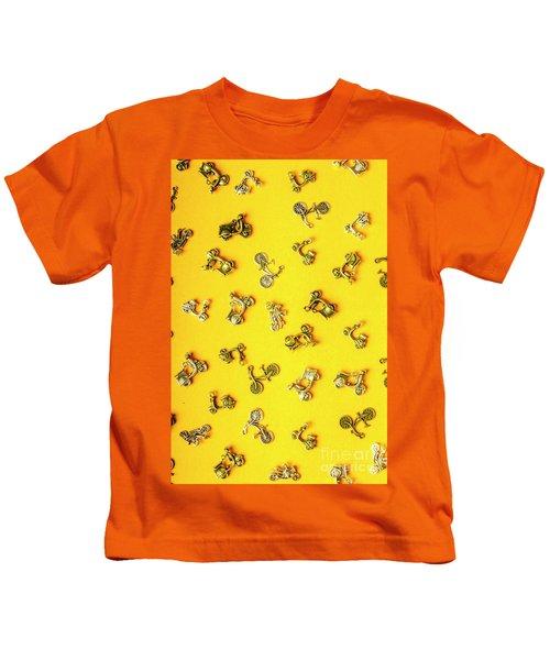 Yellow Summer Transport Kids T-Shirt