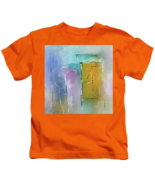 Yellows And Blues Kids T-Shirt