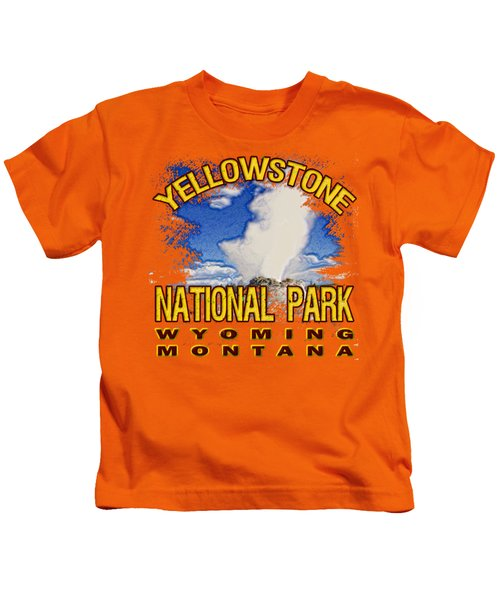 Yellowstone National Park Kids T-Shirt