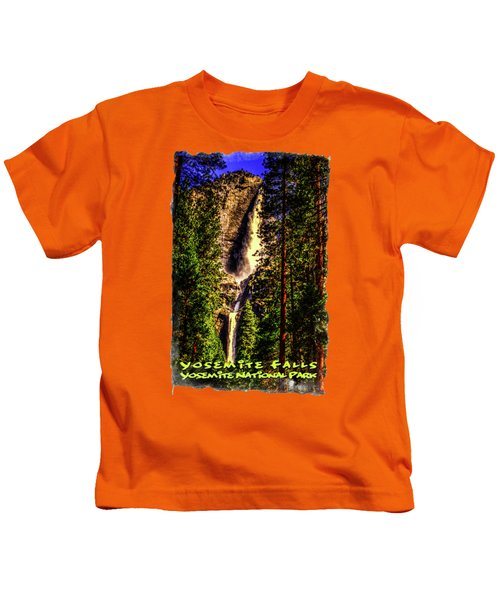 Yosemite Falls Framed By Ponderosa Pines Kids T-Shirt by Roger Passman