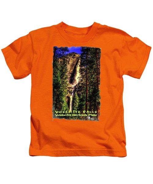 Yosemite Falls Framed By Ponderosa Pines Kids T-Shirt