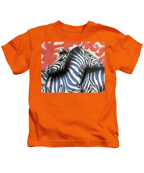Zebra In Love Kids T-Shirt