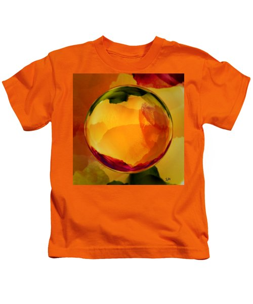 Watercolor Glass Marble  Kids T-Shirt