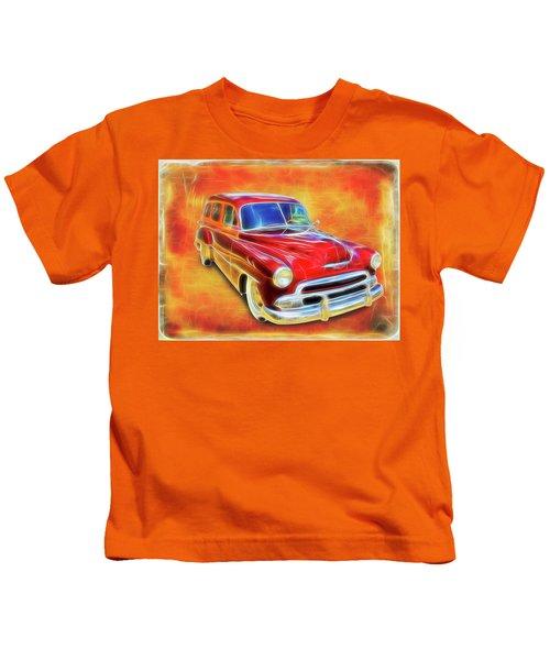 1951 Chevy Woody Kids T-Shirt