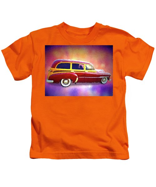 1951 Chevy Woody Sideview Kids T-Shirt