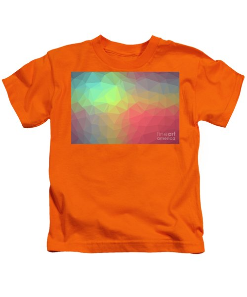 Gradient Background With Mosaic Shape Of Triangular And Square C Kids T-Shirt