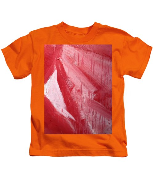 Abstract Red Paint Kids T-Shirt