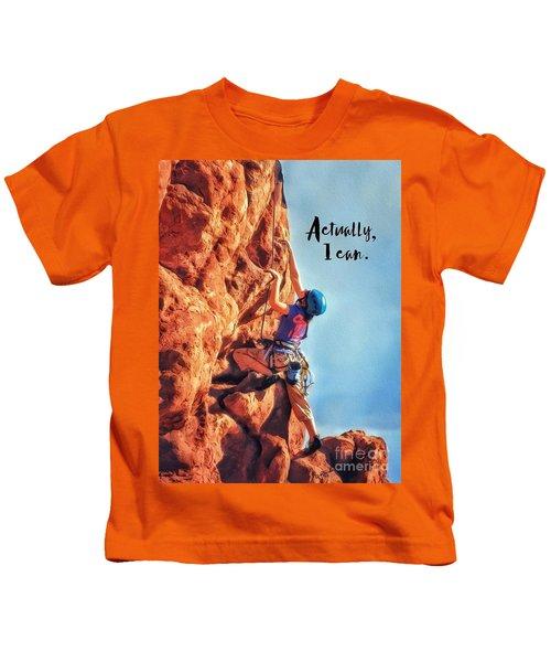 Actually I Can Kids T-Shirt