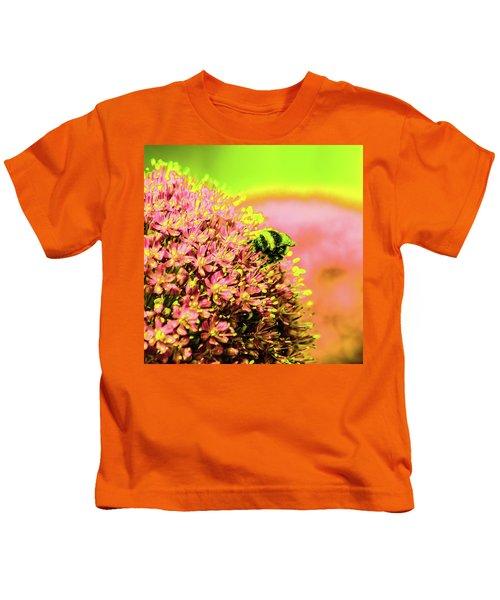 Allium With Bee 1 Kids T-Shirt