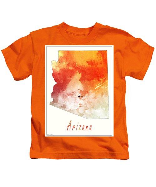 Arizona Map Style 5 Kids T-Shirt