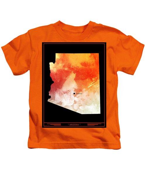 Arizona Map Style 8 Kids T-Shirt