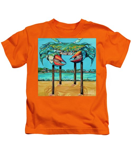 Big Blue Crab Rockport Kids T-Shirt