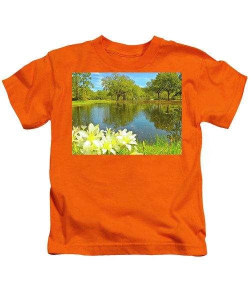 Botanical Gardens Pond Kids T-Shirt