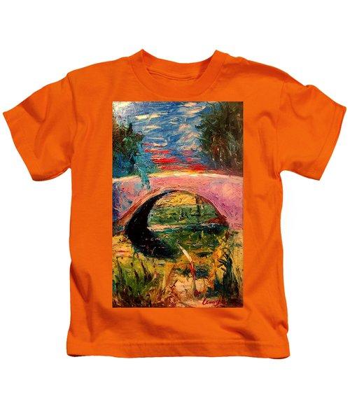 Bridge At City Park Kids T-Shirt