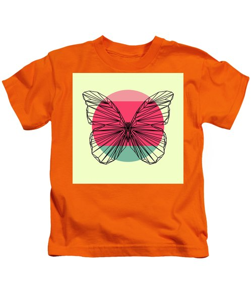 Butterfly And Sunset Kids T-Shirt