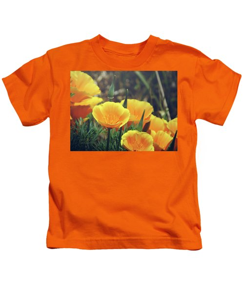 Californian Poppies In The Patagonia Kids T-Shirt