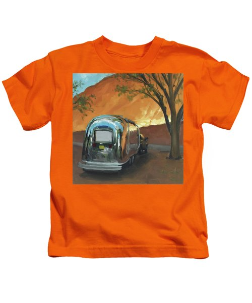 Camping At The Red Rocks Kids T-Shirt