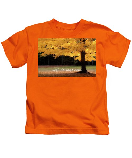 Canopy Of Gold Fall Colors Kids T-Shirt