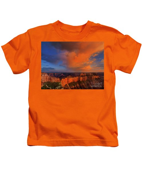 Clearing Storm Cape Royal North Rim Grand Canyon Np Arizona Kids T-Shirt