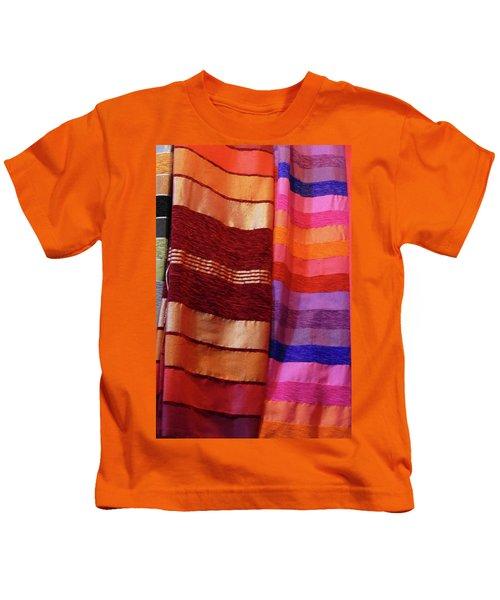 Colorful Fabrics In The Medina Market  Kids T-Shirt