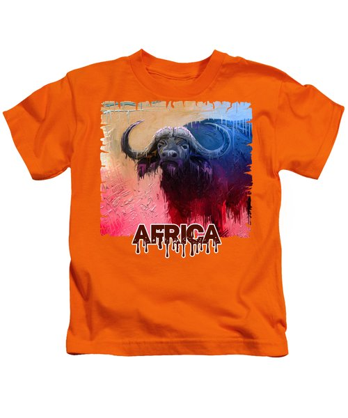 Dripping Buffalo Kids T-Shirt