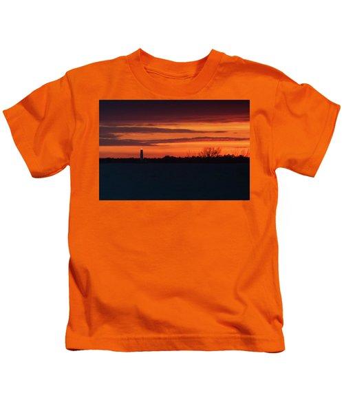 Egmont Key Lighthouse Sunset Kids T-Shirt