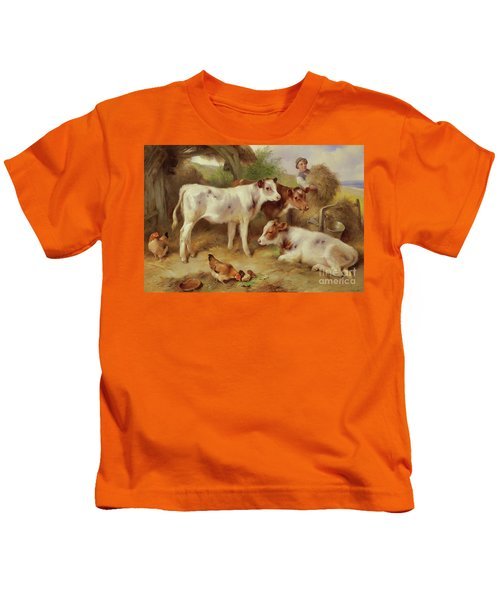 Feeding The Calves, 1931 Kids T-Shirt